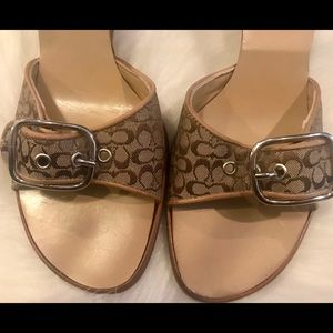 Coach Buckle Wedge Shoes